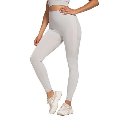 QTJY Protector de Cadera de Cintura Alta, Pantalones de Yoga para Mujer, Leggings Push-up, Pantalones Deportivos para Correr al Aire Libre de Secado rápido QL