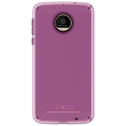 Speck Products CandyShell Clear Case for Moto Z Force Droid Smartphone, Beaming Orchid Purple Clear