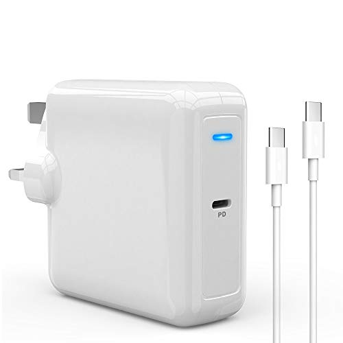 Rocketek 87W USB C Charger Wall Charger, PD 3.0 Type C Charger Fast Charging Power Adapter with USB C Cable for USB C Laptops, MacBook, iPad Pro, Samsung, Nexus, Pixel, Nintendo and More