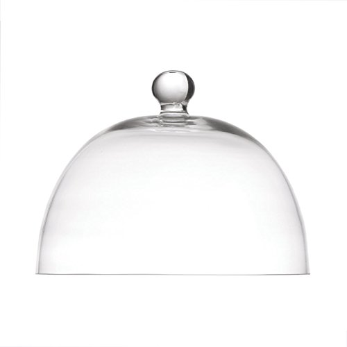 la Porcellana Arezzo dôme en Verre D30 cm, Blanc