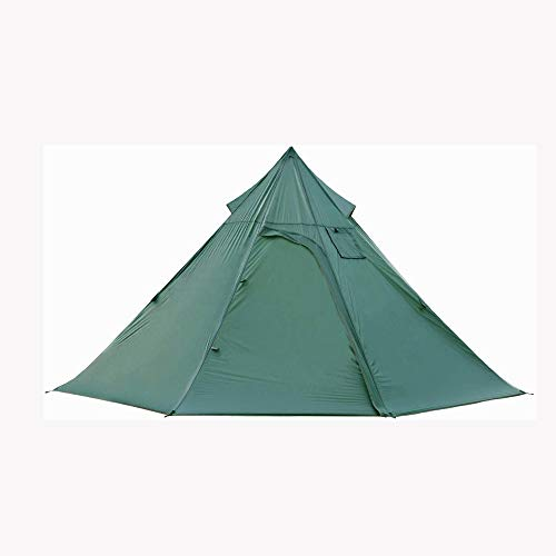 TWDYC Tent Outdoor Camping One Bedroom and One Living Room Double-layer Summer Mosquito and Winter Warmth with Chimney Mouth Pyramid Camp Tent