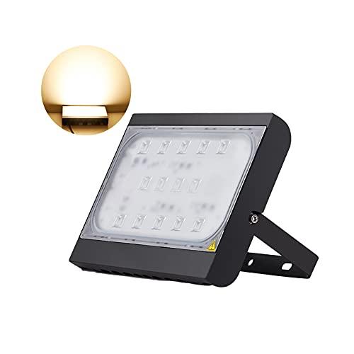 Foco Reflector LED Exterior 200W Superbrillante, Proyector LED Impermeable Ajustable En 180 ° Luces Seguridad, Luz De Inundación LED Exteriores Color Blanco Cálido Para Patio...