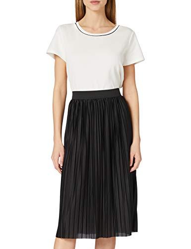 JdY Damen JDYBOA Skirt JRS NOOS Rock, Black/Detail:Black Elastic Band, M