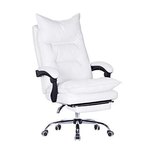 EROMMY Silla de oficina con respaldo alto de piel sintética, silla de...