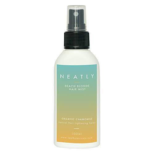 Aufhellungsspray für Haare von NEATLY Beach Blond I 100 ml Spray für alle Haartypen I Kamillen Extrakt & Magnesiumöl I Natürlich Haare Aufhellen I Bio Haaraufheller & Blondierspray