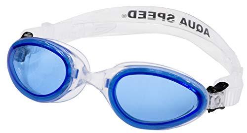 Aqua Speed Sonic JR. für Kinder Schwimmbrille (LSR, UVa UVb, easyFix), Farbe:Blau