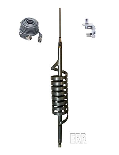 Monkey Made MM9 CB Radio Antenna - Medium Shaft - 18ft RG8X Coax - Bracket & Stud