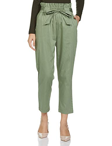 Amazon Brand – Symbol Women's Tapered Ankle Length Pants Slim Work Utility (PAG424_Olive_M)