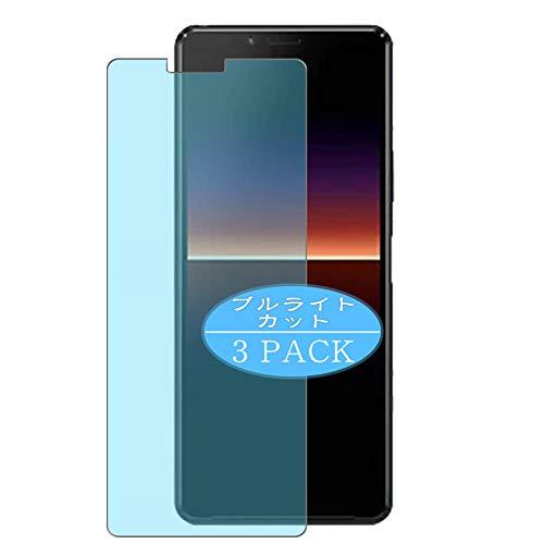 Vaxson - Protector de pantalla para Sony Xperia 10 II SOV43, color azul, 3 unidades, antiluz azul, protector de pantalla [no vidrio templado]