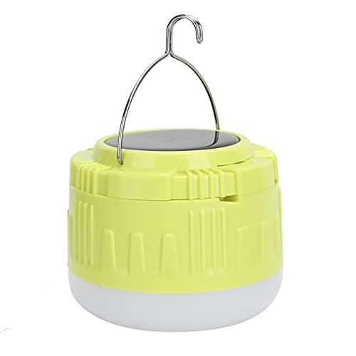 Annjom Luz para Acampar, 4 Modos, Duradera, Potente Linterna con energía Solar, Carga Solar USB, Estable, 3600 mAh, para iluminación de Carreteras para estacionamientos