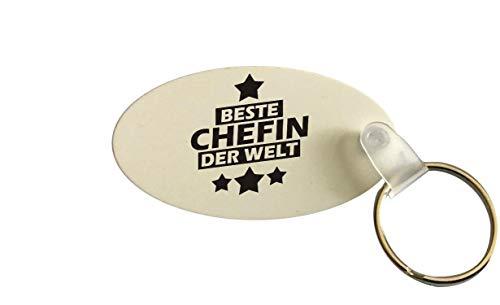 Schlüsselanhänger oval, Beste Chefin der Welt
