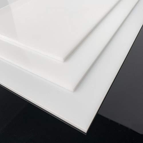 Plexi Plaque Blanc Opaque A4 21 x 30 cm - Epaisseur 4 mm - Verre Acrylique - Feuille PVC Blanc - Panneau Protection Plastique Plexiglass