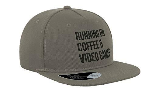 Running On Coffe Videojuegos Bordado Visera Plana Gorra Unisex Snapback Transpirable Sombrero Gorra de béisbol Gorra Fullcap Cómodo Exterior Top