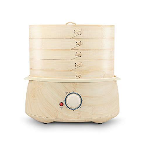 XDXDO Vaporera de bambú Hecha a Mano Vaporera de Vapor eléctrica, Hecha...