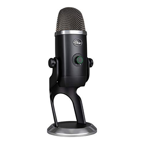 Blue Microphones Yeti X Micrófono condensador USB profesional con indicadores de alta resolución, iluminación LED y efectos Blue Vo!CE para gaming, streaming y podcasting en PC y MAC, Negro
