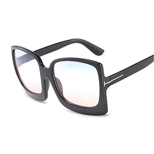 FRGH Gafas De Sol Cuadradas con Degradado Negro Gafas De Sol De Gran Tamaño para Mujer Espejo De Moda Femenina