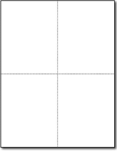 65lb White Printable Postcards - Perforat Blank Max Max 72% OFF 63% OFF Paper Postcard