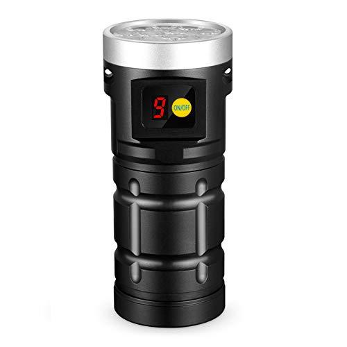 Nitebeam X12 Torcia ricaricabile USB-C ad altissima luminosità con funzione di visualizzazione digitale, batteria ricaricabile inclusa