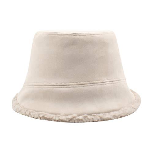 Festnight Cappello da Pescatore Reversibile Invernale da Donna Cappello a Cloche in Pile Fuzzy in camoscio Sintetico Cappellino da Pescatore all'aperto Caldo