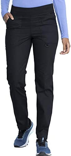 Dickies EDS Signature Women Scrubs Pant Mid Rise Tapered Leg Pull on DK125 XL Black product image