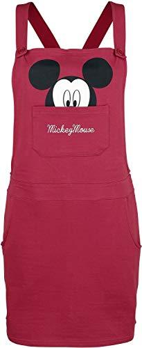 MICKEY MOUSE Micky & Minnie Face Mujer Vestido Corto Baya S, 100% algodón, seitlichen Eingrifftaschen