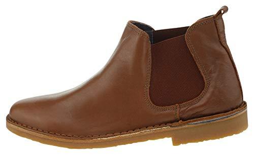 Kmins k8340 Leder Chelsea Boot braun, Groesse:38