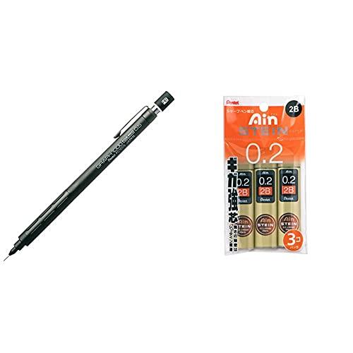 【セット買い】ぺんてる シャープペン グラフ1000 フォープロ PG1005 0.5mm & シャープペン替芯 アイン芯シュタイン XC272W2B3PR 0.2 2B 3個