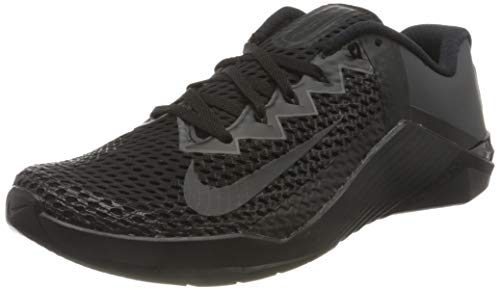 Nike Unisex Metcon 6 Soccer Shoe, Black Anthracite, 7.5 UK