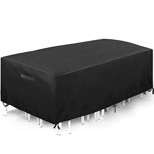 king do way Outdoor Patio Furniture Cover 230X165X80cm Waterproof Patio Table Covers,Oxford Polyester,Windproof, Anti-UV, Dust Proof Protective Covers, Large Size 90.55'X64.96' X31.49'