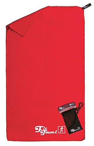 Toalla de microfibra perfecta para el ejercicio, el campamento, el gimnasio, los viajes, la playa y más Rojo Grande [150x90cm]