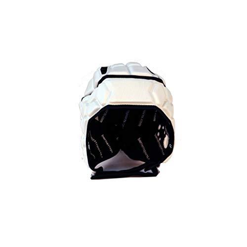BARNETT Heat PRO Rugby Helm, Spielhelm Profi, Farbe weiß (XL)