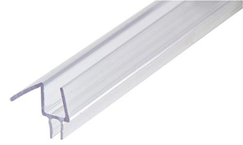Showerdoordirect 12COBS36 Frameless Shower Door Bottom Sweep with Drip Rail, 36-Inch
