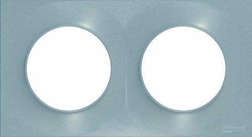 Schneider Electric SC5S52C704E Odace Styl - Marcos embellecedor para 2 enchufes (2 orificio), color aluminio