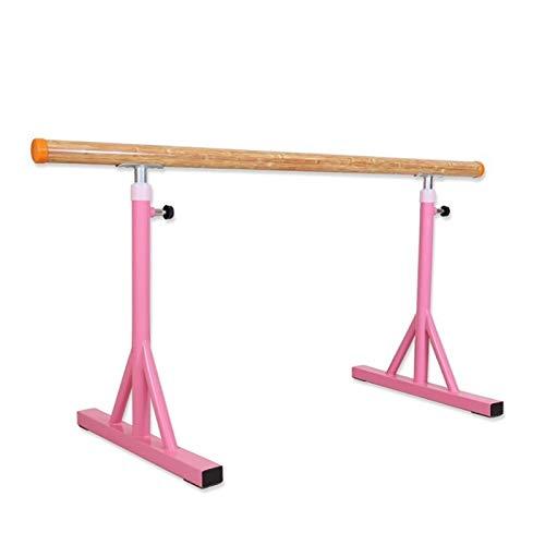 Tragbare weiße Tanzbar, Mobile verstellbare Beinpressstange, Übungsstange für den Tanzraum, Fitnessgeräte (Color : Pink, Size : 100cm)