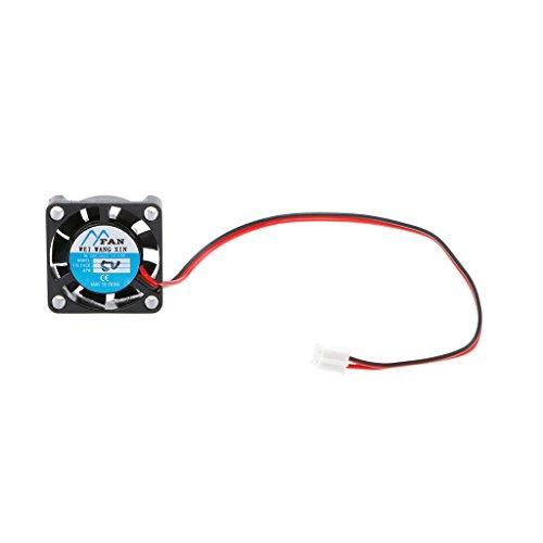 Yintiod Ventilador para PC 25 × 25 × 7 mm DC 5 V 12 V 2 pin refrigerador de 2 pines Brushless Chipset Mini ventilador 2507