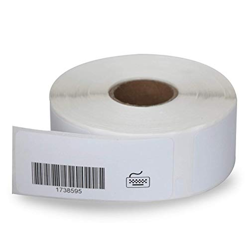 "BETCKEY - Compatible DYMO 1738595 (0.75"" x 2.5"") Barcode/File Labels - Compatible with Rollo, DYMO Labelwriter 450, 4XL & Zebra Desktop Printers[1 Rolls/450 Labels]"