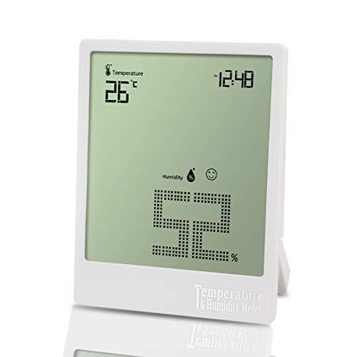 Higrómetro Termómetro ultrafino digital Higrómetro interno Monitores Temperatura ambiente Humedad blanca