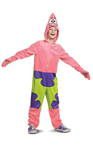 Patrick Spongebob Costume, Cartoon Inspired Character Outfit for Kids, Classic Child Size Small (4-6) Pink