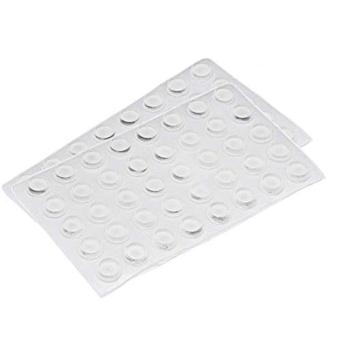 Rocutus - 80 almohadillas adhesivas de silicona para puerta de armario, parachoques, amortiguador