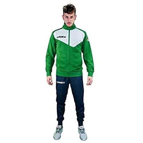 LEGEA Messico Jacket, Bianco/Verde, M Mens