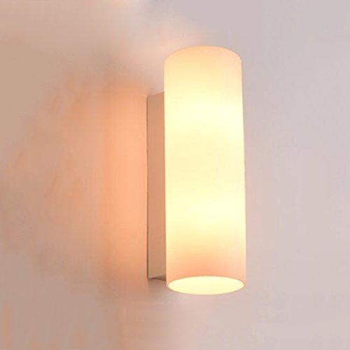 * & Perfect - Lampe de mur à LED lampe de chevet de chambre à coucher verre minimaliste moderne Nordic japonais salon balcon escalier applique murale