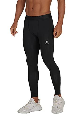 stan スポーツタイツ メンズ コンプレッションタイツ [高弾力で運動をサポートするタイツ]ハーフ 7分丈 9分丈 ランニングタイツ 着圧 吸汗速乾 UVカット オールシーズン XL 黒・9分丈