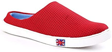 FOX HUNT Casual Denim Sneaker Shoes Men's Boys Latest (Red) All Shoes