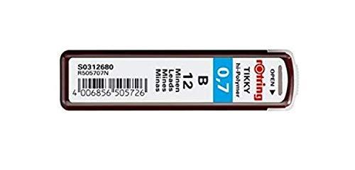 rOtring Tikky Mechanical Pencil Lead 0.7mm B, 12 Lead (R505 707 B)