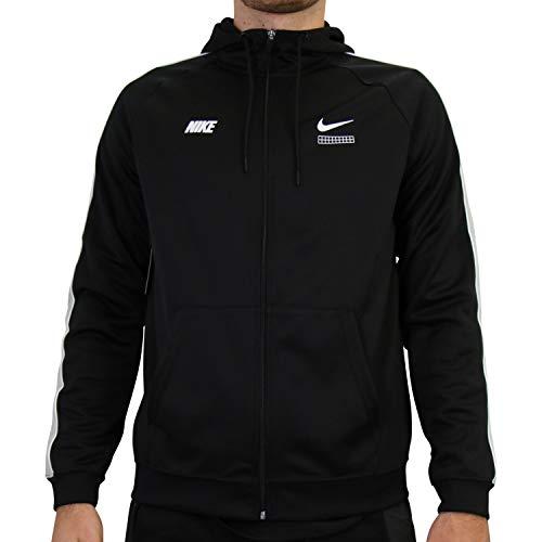 Nike Herren CV1340-010 Sweatshirt, Black/Light Smoke Grey/White, L