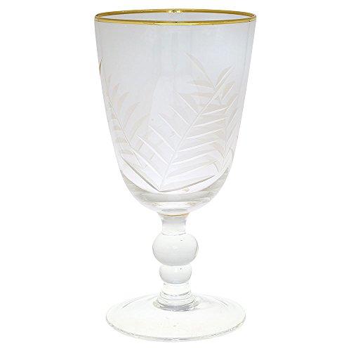 GreenGate - Weinglas, Glas - Goldrand - Schliff - 8,2 x 16 cm - 1 Stück