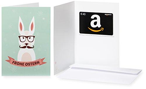 Amazon.de Geschenkkarte in Grußkarte - 40 EUR (Hipster-Hase)