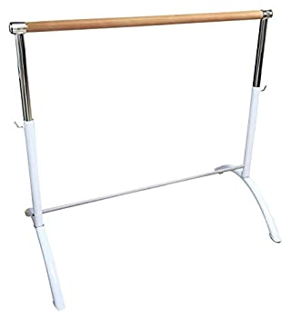 Ballet Barre Portable for Home I Adults & Children Lightweight Adjustable White Ballet Bar Freestanding Barre Equipment for Home - Perfect for Exercise Balance & Flexibility  Single Barre
