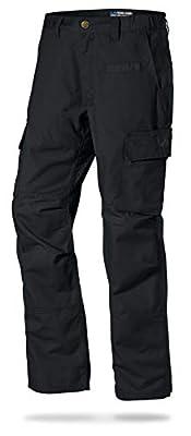 LA Police Gear Mens Urban Ops Tactical Cargo Pants - Elastic WB - YKK Zipper - Black - 36 x 32