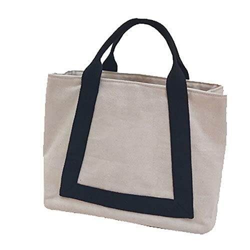 Kfhfhsdgsawcb Bolsa de Almuerzo, Bolsa de almuerzo que puede llevar frutas o bebidas, caja de almuerzo de tela de lona reutilizable para hombres mujeres, almuerzo bolso de mano para escuela, oficina y
